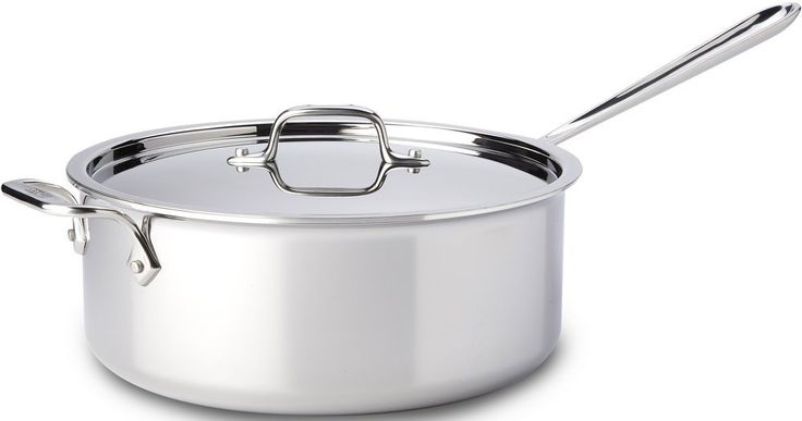 All-Clad Stainless Steel 6-Quart Deep Saute Pan with Lid