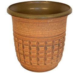 Affiliated Craftsmen Mid Century Earthenware Planters Front