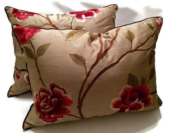Ambrosia Decorative Pillow-Designer Pillow-Silk Embroidered Pillow