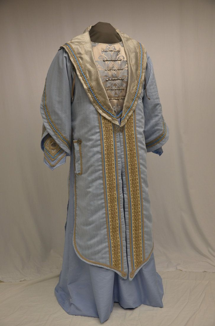 """Custom designed Harry Potter """"Funky Luna"""" dress robe. Brown linen and embroidered denim, with lots of ribbons!"""