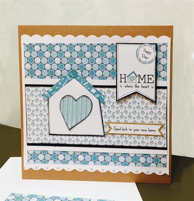 Handmade 'New Home' Card With Tutorial. Uses Free-to