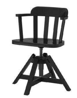 פאודור כיסא מסתובב עם ידיות שחור