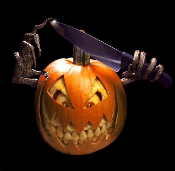 Scary Halloween Pumpkin Carvings by Ray Villafane