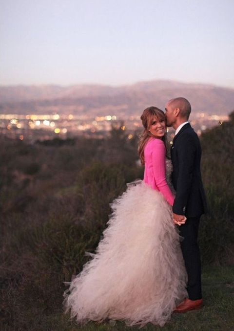 Wedding Dress Paired With A Cardigan: 43 Ideas | HappyWedd.com