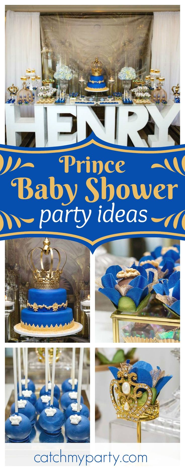 Winnie the pooh baby shower centerpiece ideas 48pc baby shower winnie - Check Out This Regal Baby Shower Fit For A Prince The Dessert Table Is Amazing
