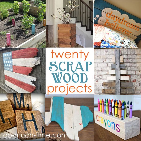 """Welcome to Main Ingredient Monday! 1 Main Ingredient + Tons of Creativity = 20 """"New"""" and amazing projects I have tons of random wood in my bin. Scraps from other projects, freebies from Home Depot, and extras from my brother-in-laws contracting business...."""