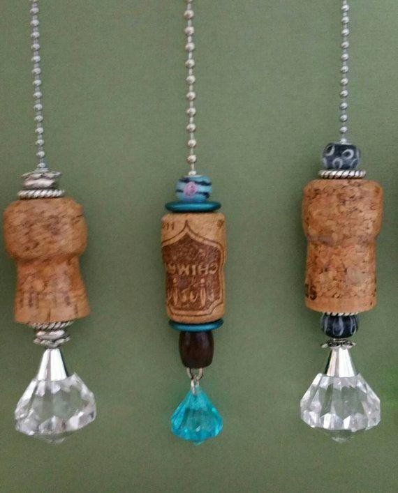 Champagne cork light/ceiling fan pull