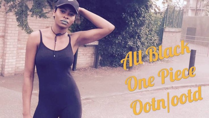 All Black All in One Ootn / Ootd by styledbypromise - YouTube