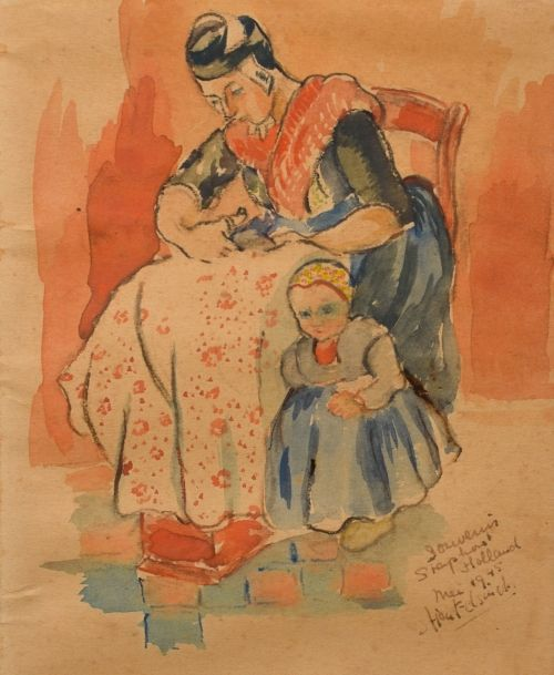 Cristiana 'Stien' Eelsingh (1903-64).Mother and Child