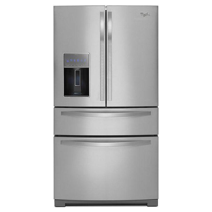 1322 non counter depth 26 cu ft whirlpool wrx988sibm 261 stainless steel refrigeratorfrench door refrigeratorstainless - Non Stainless Steel Appliances