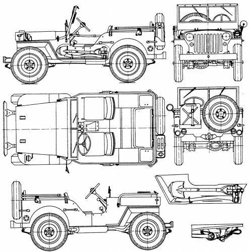 The-Blueprints.com - Blueprints > Cars > Willys > Willys Jeep