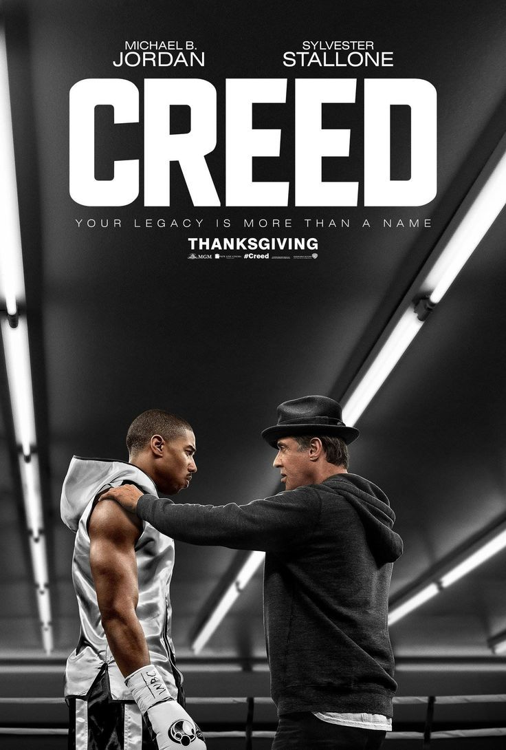 Creed...the next Rocky movie to take to the Big Screen. Sylvester Stallone and Michael B. Jordan