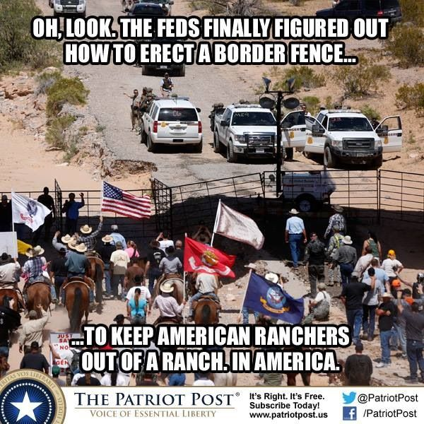 Oh look, the feds finally figured out how to erect a border fence... to keep Americans out of an American ranch... in America.