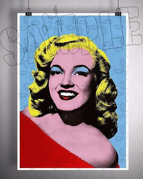 Merilyn Monroe Pop Art  #digitalart #portrait #popart