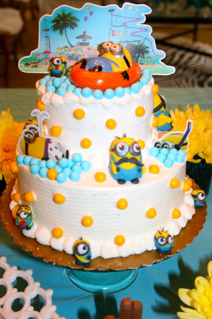 105 best images about minion birthday theme on pinterest - Cake decorations minions ...