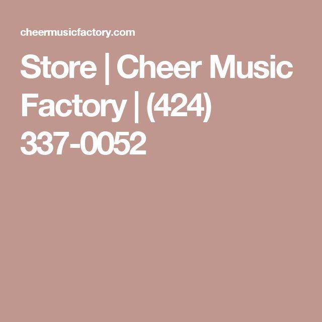 Store | Cheer Music Factory | (424) 337-0052