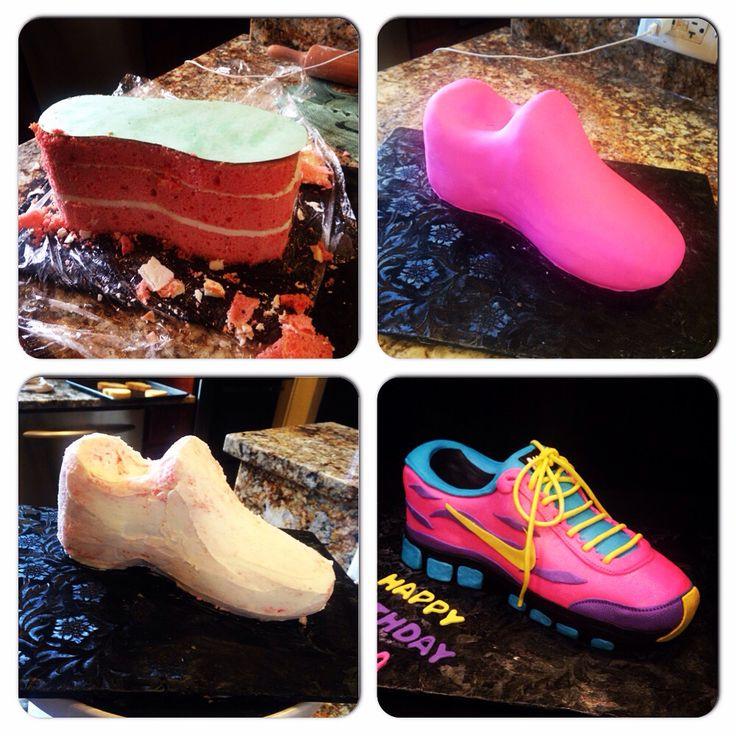 Tennis shoe cake #nike #tennisshoecake
