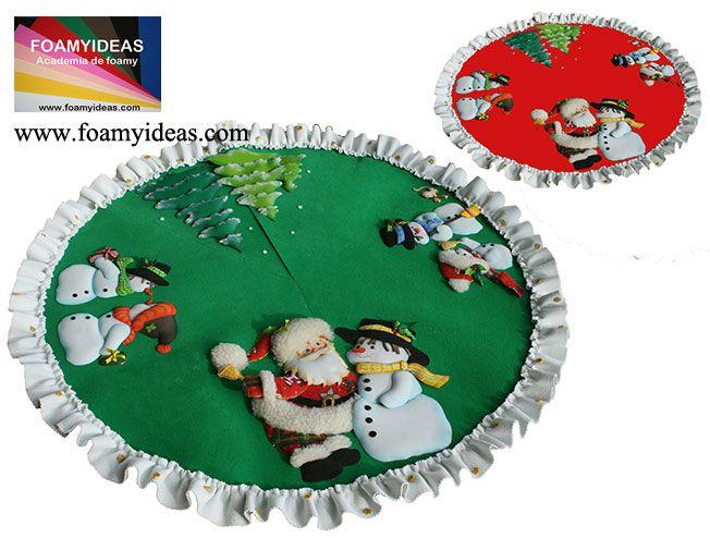 Pie de arbol navideño de foamy Mas proyectos, more proyects: www.foamyideas.com