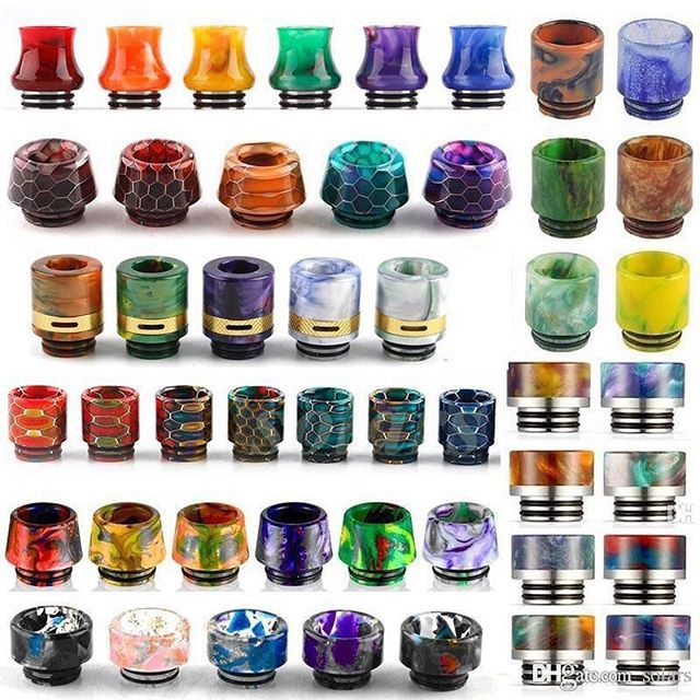 Honeycomb 810 Thread Resin Drip Tip Snake Skin Colorful