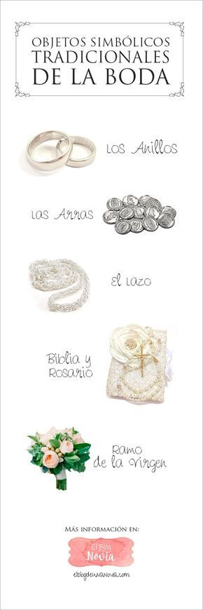 Objetos simbólicos tradicionales del matrimonio