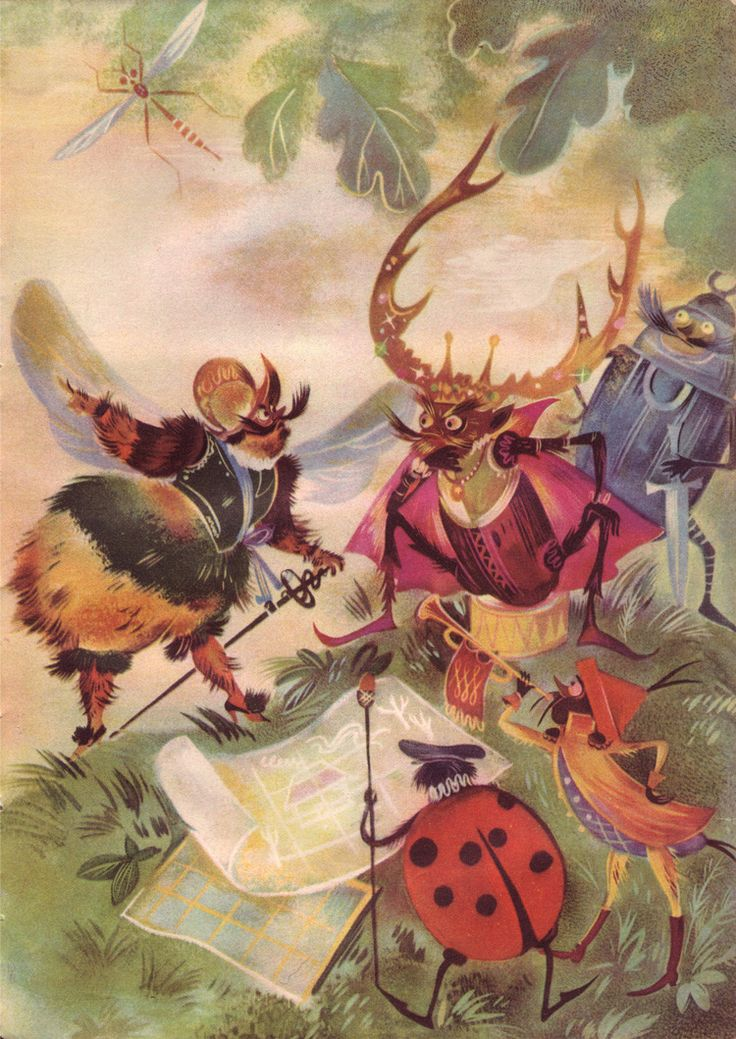 from Polish childrens book Insect Armies by Jan Marcin Szancer