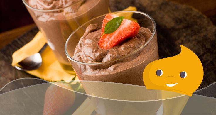 #RicetteLight - Frozen Yogurt al Cioccolato e fragole con Truvìa #stevia #ricette #ricetta