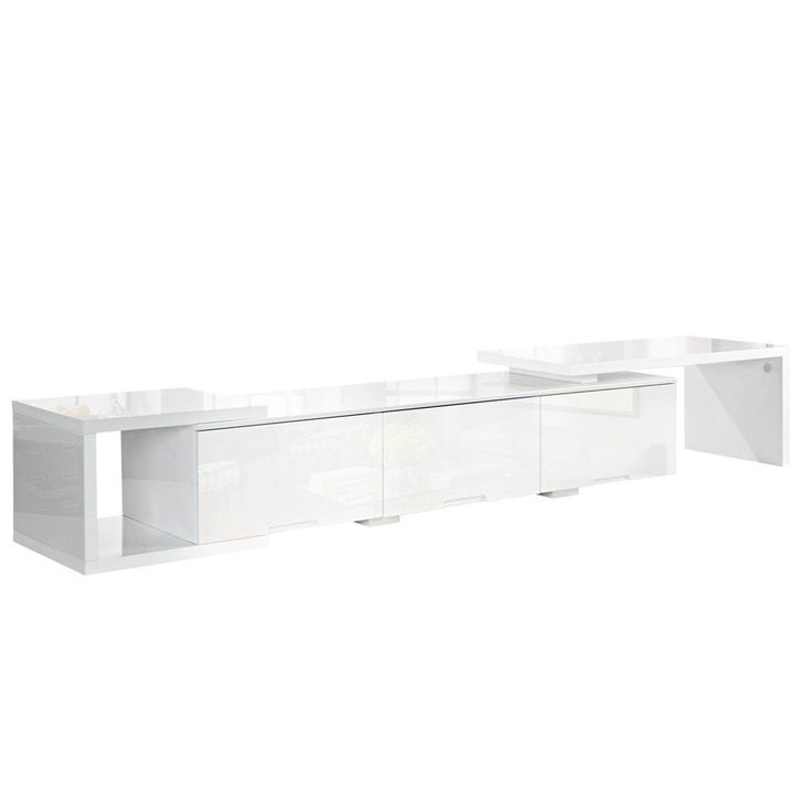 TV Entertainment Unit - High Gloss White