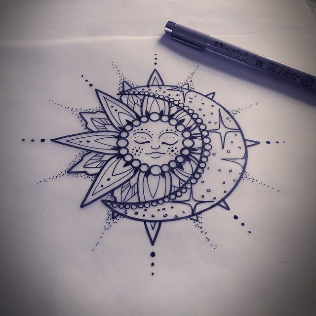 """Mel Perlman on Instagram: """"Lil solar and celestial tattoo for upcoming an appointment. #sun #sunandmoon #sunandmoontattoo #tattoo #celestialtattoo #aceshightattoos…"""""""