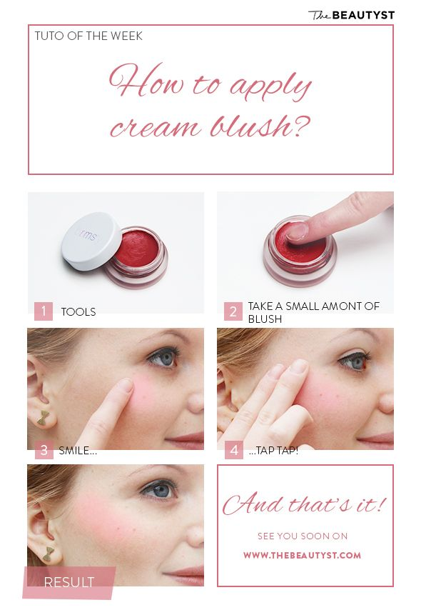 Make up tip: How to apply cream blush