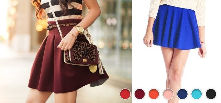 $10 for a High Waist Skater Skirt - Tax Included ($39 Value)