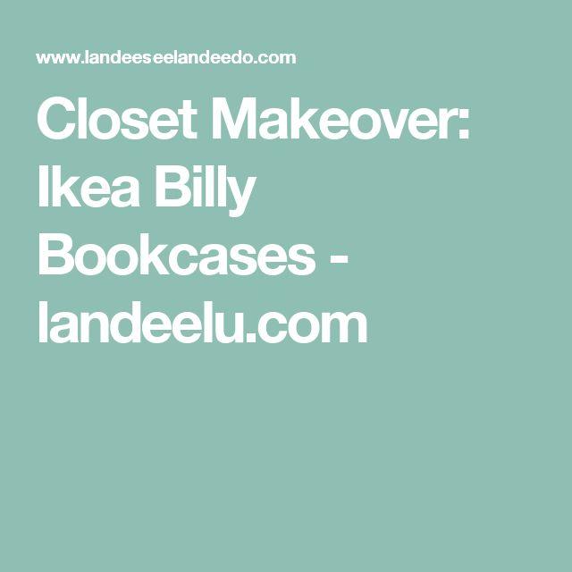 Closet Makeover: Ikea Billy Bookcases - landeelu.com