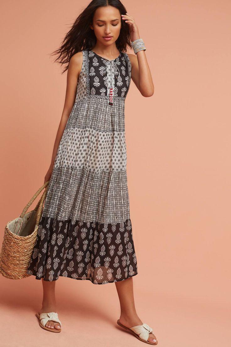 Slide View: 3: Tiered Peasant Dress