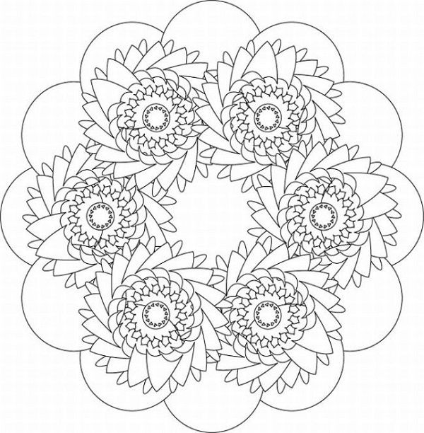 intricate coloring pages christmas - photo#23