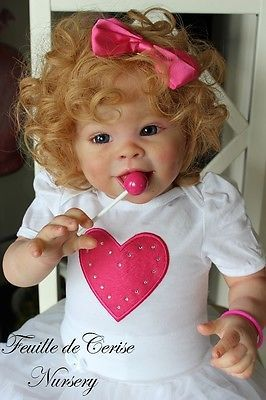 Feuille de Cerise Nursery - reborn toddler doll Jordyn by Laura Tuzio human hair