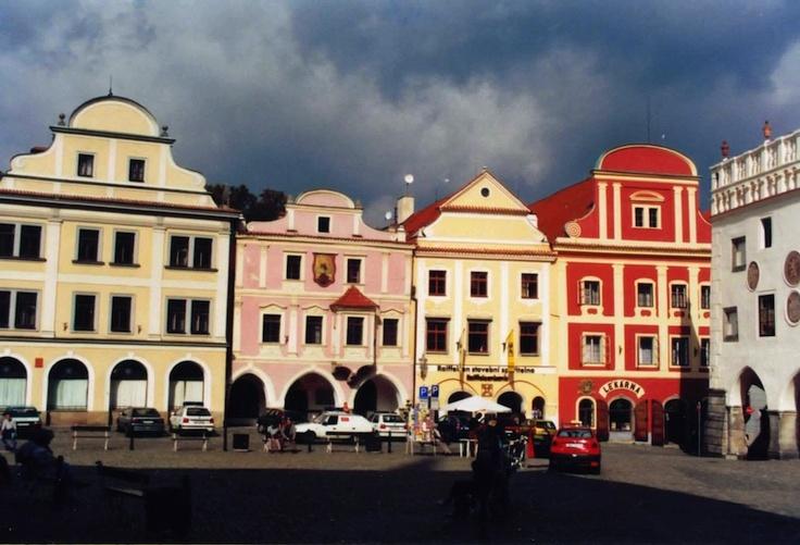 olomouc town square, czech republic, 9-2000
