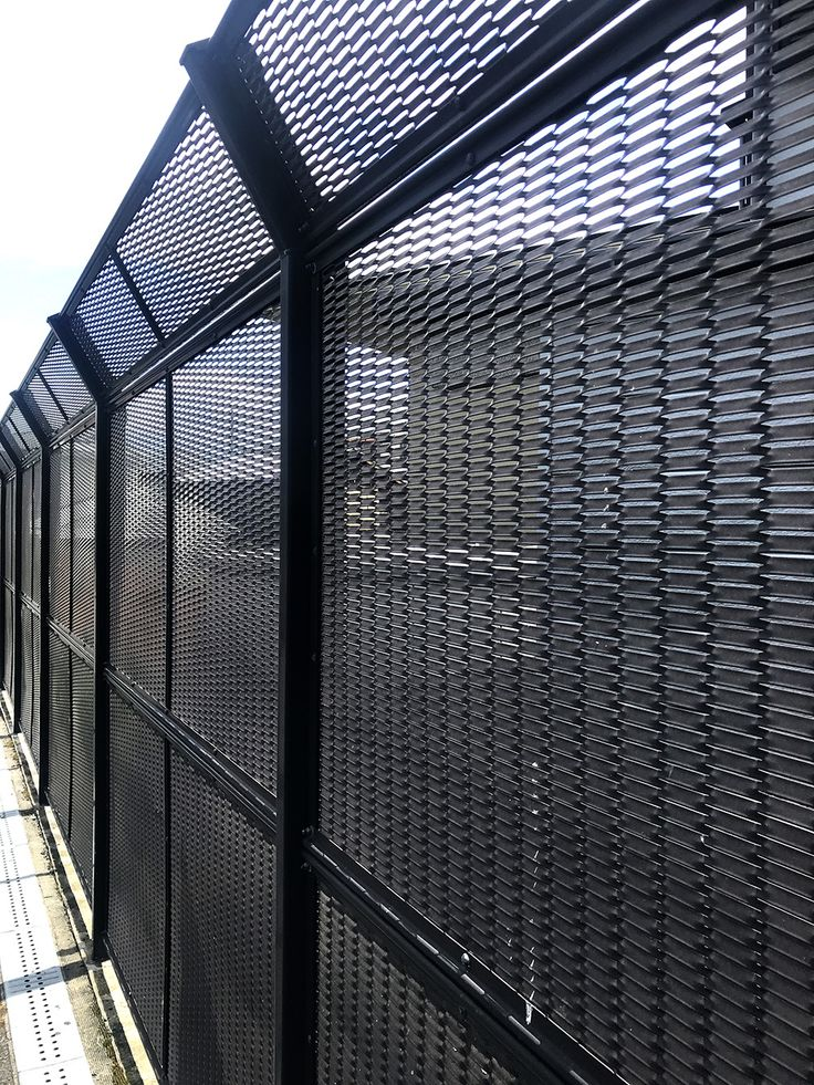 Black Metal Fence By Expanded Mesh Metal Fence Expanded Metal