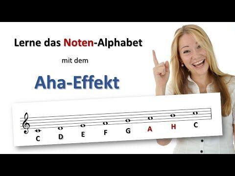 Spielend Noten lernen – So lernst du das Noten-Alphabet mit dem Aha-Effekt – YouTube – Sabine Brandt