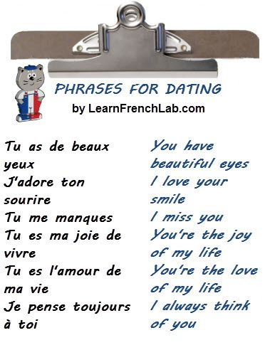 How to say romantic things in french
