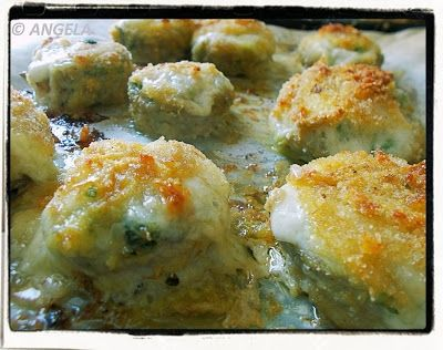Zapiekane pieczarki z farszem - Stuffed Mushrooms Recipe - Funghi champignon ripieni al forno