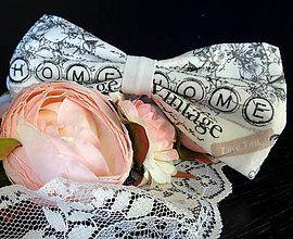 Home vintage motýlik / Handmade bowtie
