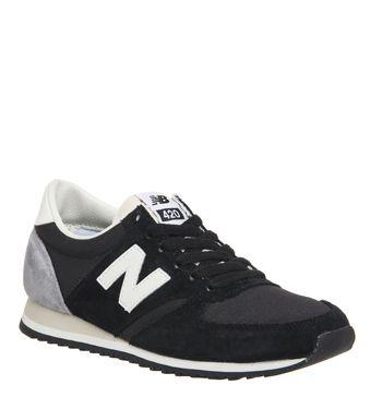 New Balance, U420, New Black White