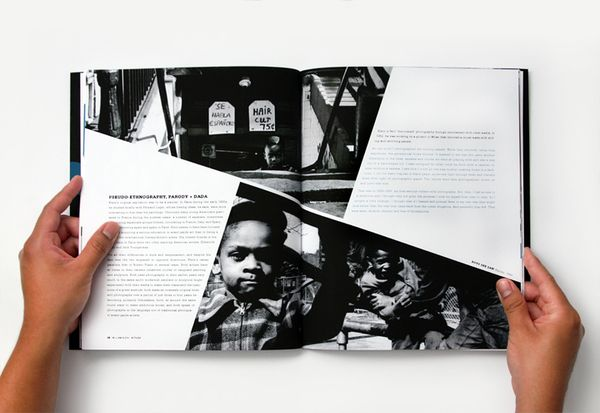 "Witness by Fred Carriedo, via Behance. Great way to use ""Break Through"" with a copy-heavy page."