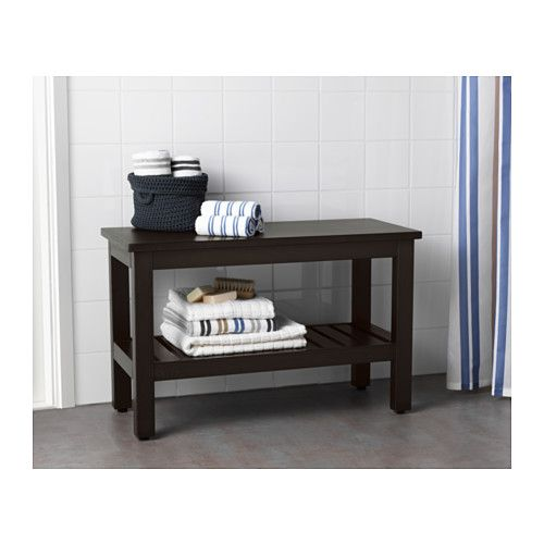 HEMNES Bench, black-brown stain black-brown stain 32 5/8
