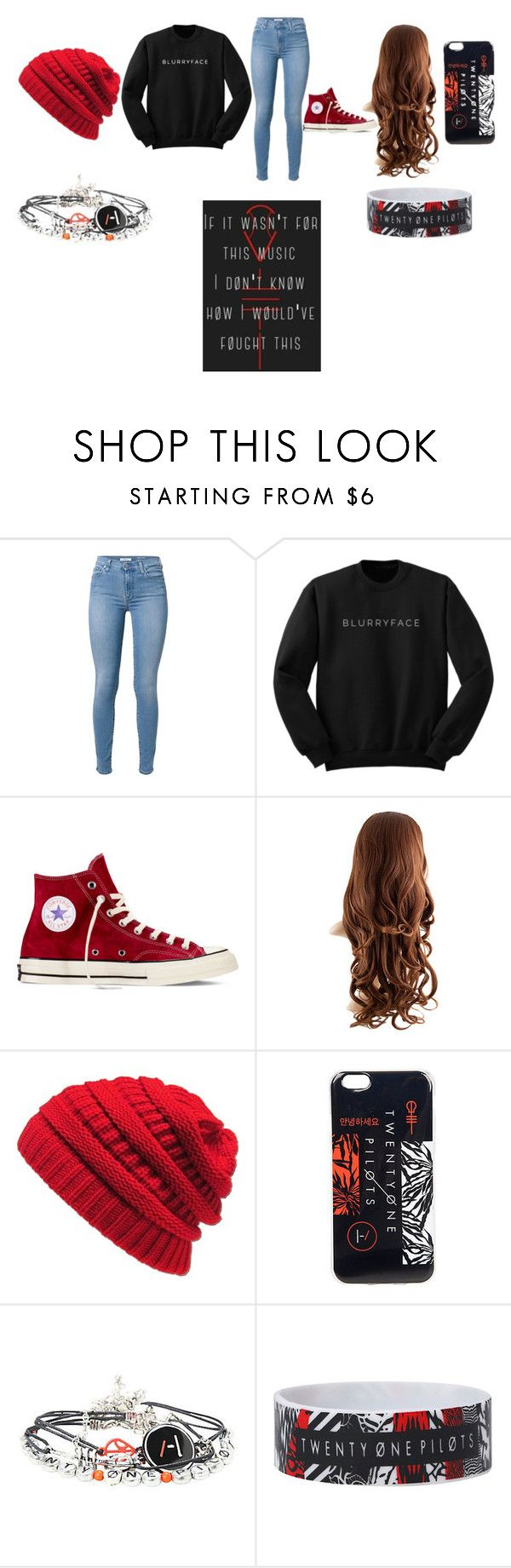"""twenty one pilots concert outfits"" by kaiyamariefob on Polyvore featuring Converse"