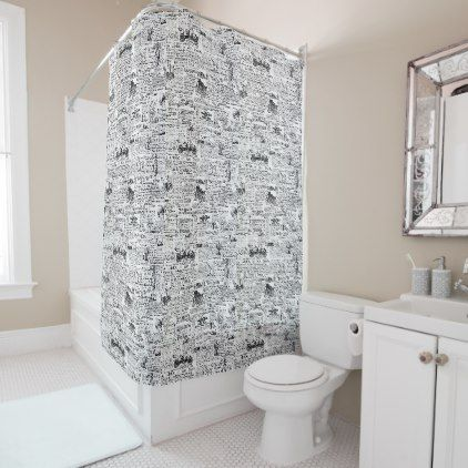 Newspaper Shower Curtain