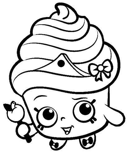 Shopkins cupcake queen black and white google search for Big girl coloring pages