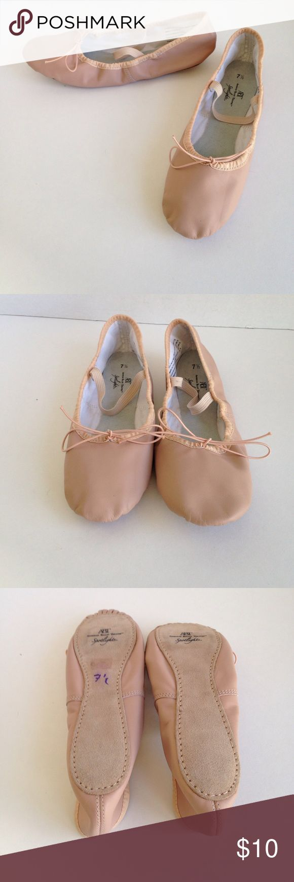 "Spotlights Ballet Slippers American Ballet Theater ""Spotlights"" pink leather. NWOT Spotlights Shoes Flats & Loafers"