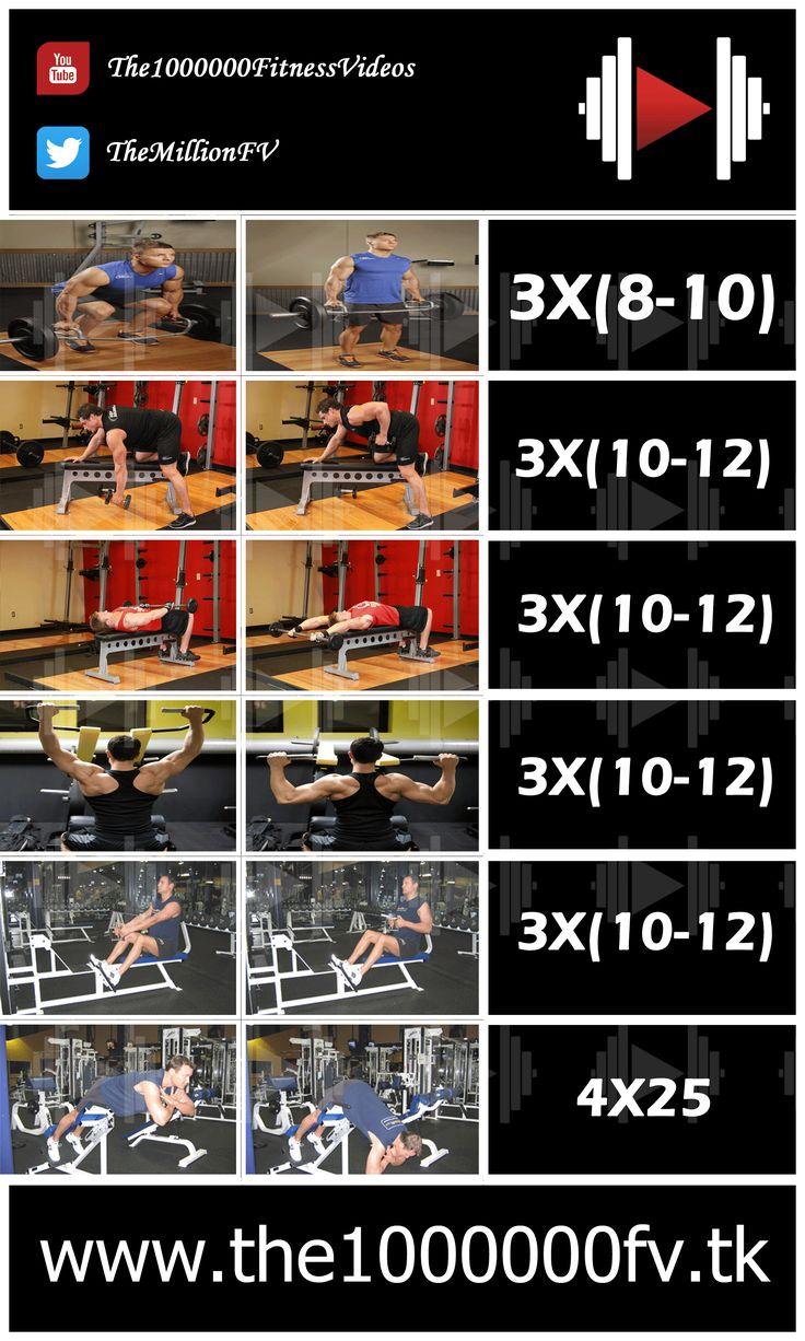 Back Workout For mass gain  #back_workout #back_workout_gym #back_routine #back_workout_for_mass