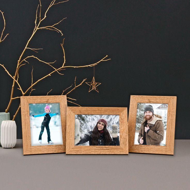 Das hochwertige 3er Bilderrahmen-Set im Strandhaus-Look ist eine schöne Geschenkidee zu Weihnachten.