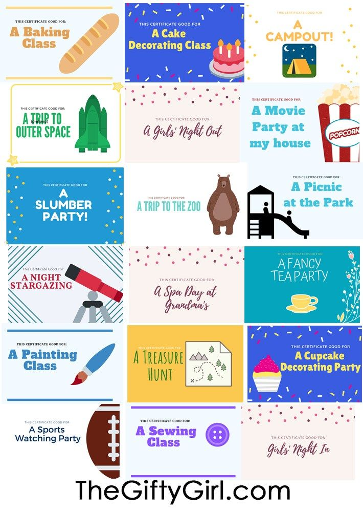20 Unique And Fun Diy Experience Gifts For Kids For Cheap Or Free The Gifty Girl Diy Gifts For Kids Gifts For Kids Experience Gifts